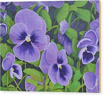 Pansies Schmanzies Wood Print