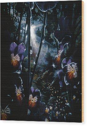 Pansy Path Wood Print by Lynette Yencho