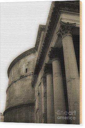 Wood Print featuring the photograph Pantheon by Angela DeFrias