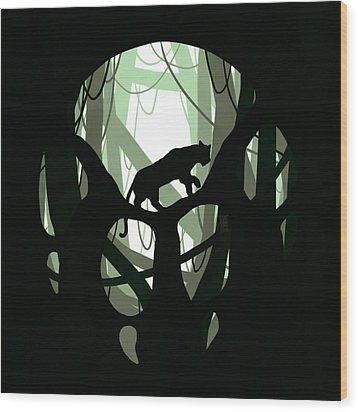 Panther Paw Wood Print by Daniel Hapi
