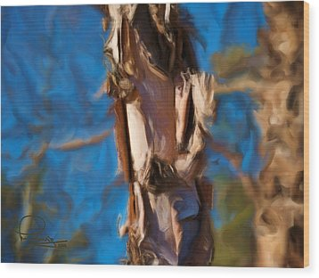 Wood Print featuring the photograph Paper Bark Birch by Ludwig Keck