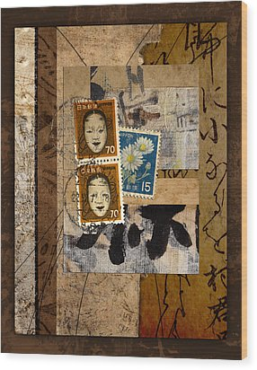 Paper Postage And Paint Wood Print by Carol Leigh