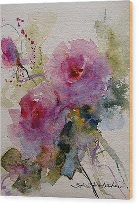 Paper Roses Wood Print