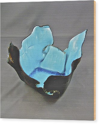 Wood Print featuring the sculpture Paper-thin Bowl  09-001 by Mario Perron