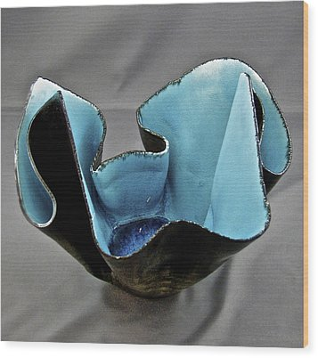 Wood Print featuring the sculpture Paper-thin Bowl  09-003 by Mario Perron