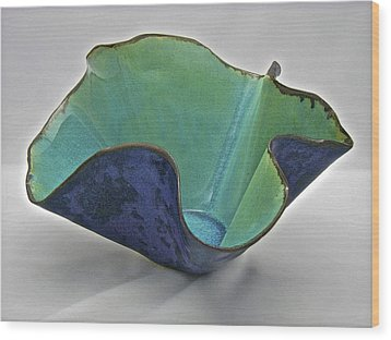 Wood Print featuring the sculpture Paper-thin Bowl  09-006 by Mario Perron
