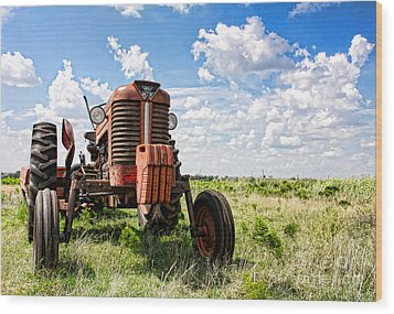 Pappa's Tractor Wood Print