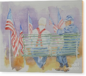 Parade Day Wood Print by Mary Haley-Rocks