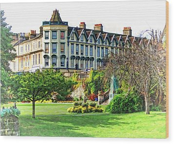 Parade Gardens Bath Wood Print