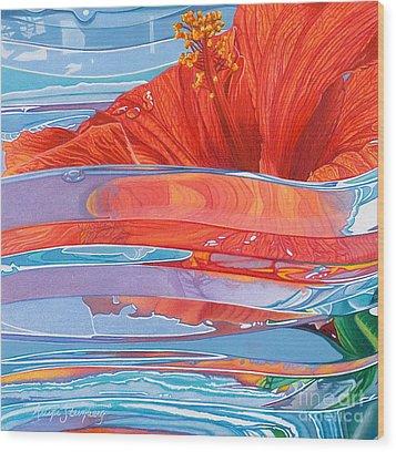Paradise Dreams Wood Print by Arlene Steinberg