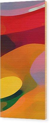 Paradise Found 1 Panel C Wood Print by Amy Vangsgard