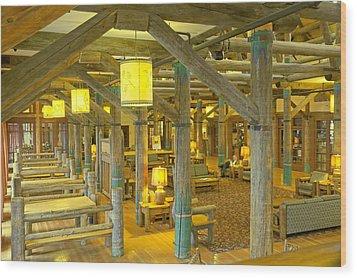 Paradise Inn Lobby Wood Print