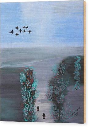 Wood Print featuring the painting Paradise by Lorna Maza