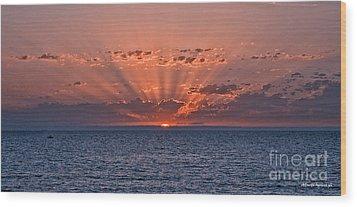 Paradise Sunset Wood Print by Alberto Agrusa