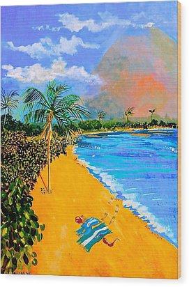 Paradise Wood Print by Susan Robinson
