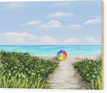 Paradise Wood Print by Veronica Minozzi