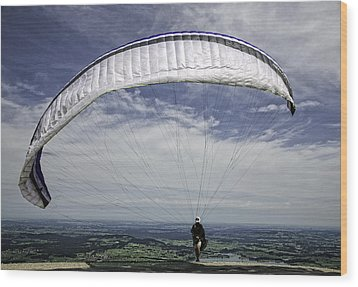 Paragliding  Wood Print by Joanna Madloch