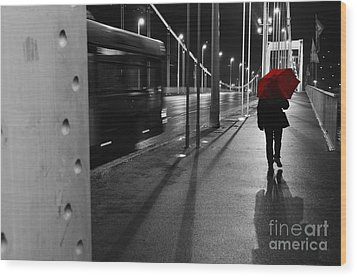 Wood Print featuring the photograph Parallel Speed by Simona Ghidini