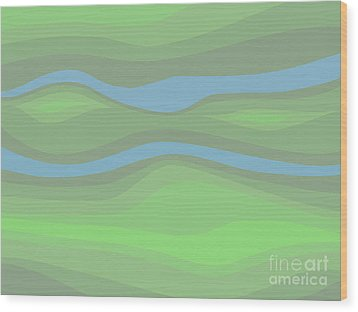 Parallel Streams Topo Wood Print