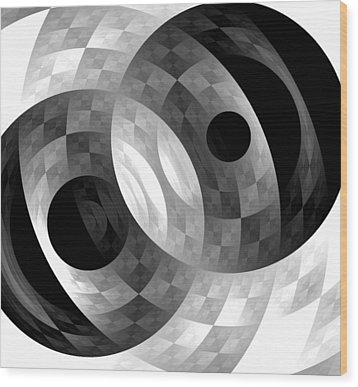 Wood Print featuring the digital art Parallel Universes by Martina  Rathgens