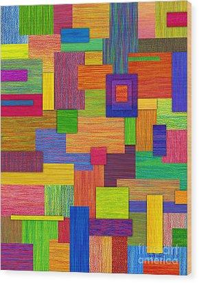 Parallelograms Wood Print by David K Small