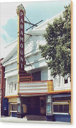 Paramount Theater In Baton Rouge Wood Print