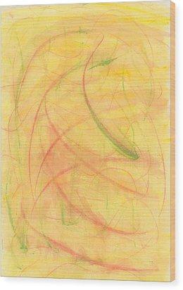 Paranoid In Reverse Wood Print by Kelly K H B