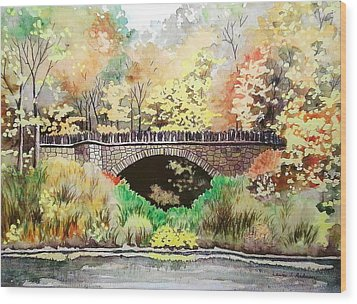 Parapet Bridge - Mill Creek Park Wood Print