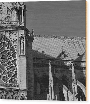 Paris Ornate Building Wood Print