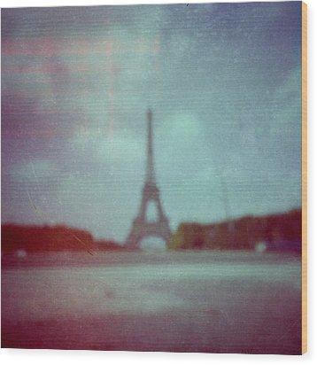 Paris Wood Print by Alex Conu