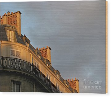 Wood Print featuring the photograph Paris At Sunset by Ann Horn