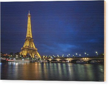 Paris Blues Wood Print by Ryan Wyckoff