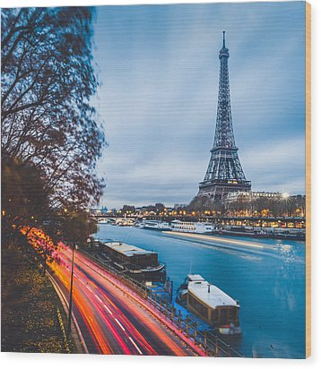 Paris Wood Print by Cory Dewald