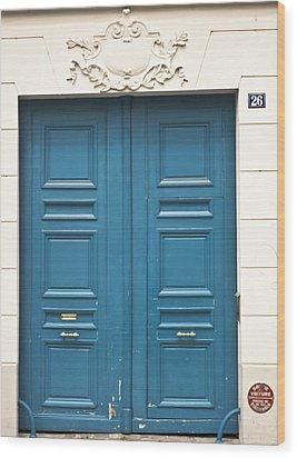 Paris Door Wood Print by Georgia Fowler
