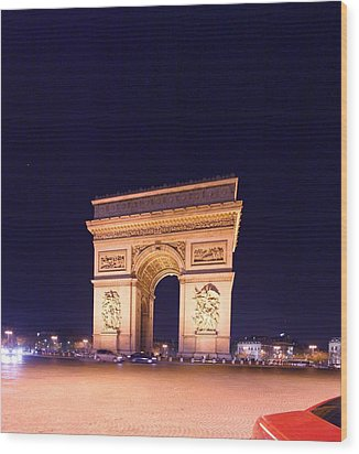 Paris France - Arc De Triomphe - 01131 Wood Print by DC Photographer