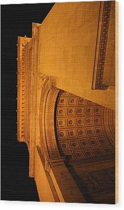 Paris France - Arc De Triomphe - 01132 Wood Print by DC Photographer