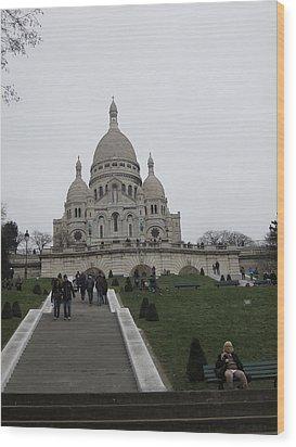 Paris France - Basilica Of The Sacred Heart - Sacre Coeur - 12128 Wood Print by DC Photographer