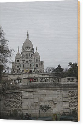 Paris France - Basilica Of The Sacred Heart - Sacre Coeur - 12129 Wood Print by DC Photographer