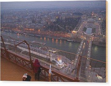 Paris France - Eiffel Tower - 011317 Wood Print by DC Photographer