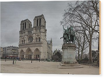 Paris France - Notre Dame De Paris - 011314 Wood Print by DC Photographer