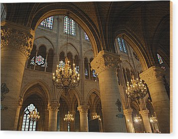 Paris France - Notre Dame De Paris - 01134 Wood Print by DC Photographer