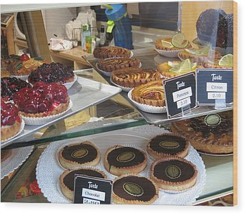 Paris France - Pastries - 121210 Wood Print by DC Photographer