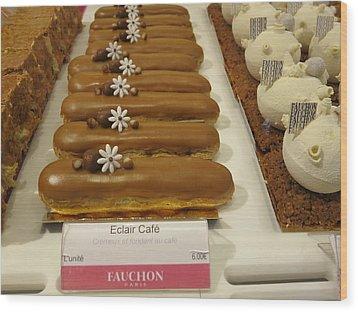 Paris France - Pastries - 121279 Wood Print by DC Photographer