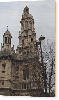 Paris France - Street Scenes - 0113126 Wood Print by DC Photographer