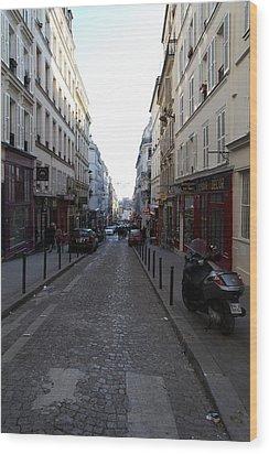 Paris France - Street Scenes - 01133 Wood Print by DC Photographer