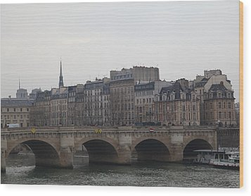 Paris France - Street Scenes - 011343 Wood Print by DC Photographer