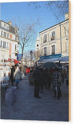 Paris France - Street Scenes - 01139 Wood Print by DC Photographer