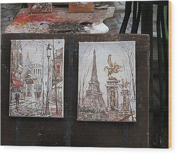 Paris France - Street Scenes - 121225 Wood Print by DC Photographer