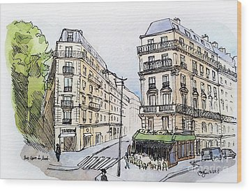 Paris Gare Du Nord Wood Print by Marie Minyoung Jeon