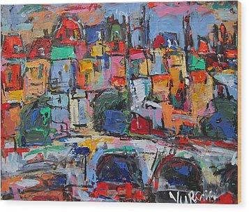 Paris In Colors Wood Print